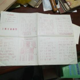 上海交通简图【大8开】1968年出版有毛主席语录