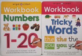 可擦写清洁练字练习册wipe clean Workbook系列共2本20元