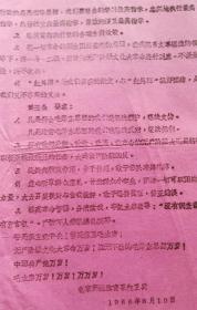 1966年北京师范学院体育系【红卫兵】纲领,8开