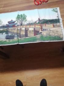 北京颐和园知春亭中国杭州都锦生丝织厂制42X92   1004-6  50-60年代