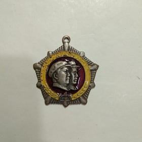 毛林合像中共六二九七部队第六届代表大会纪念章。1969.10.1