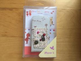 iPhone 4 手機殼 塑料材質  (外層皮革)