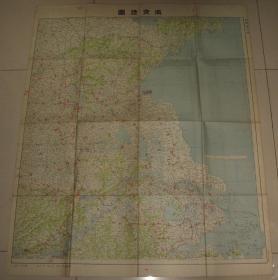 侵华老地图 1937年日本陆军部认可《南支地图》78x96cm