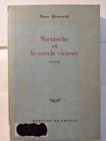 Nietzsche et le cercle vicieux: Essai