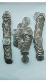流通纪念币;建党70周年(卷拆全新币,原光铮铮亮,机会难得,40套币和售,共计120枚币)