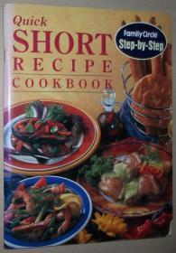 英文原版书 Quick Short Recipe Cookbook 英国西餐快速简短简易 菜谱烹饪做法 彩色图文本  (Step-by-Step) Paperback – 1997 by Jane Price  (Author)