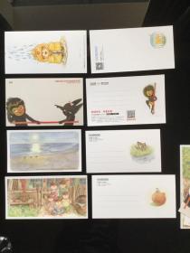 蒲蒲兰绘本馆 明信片 全套4张(图片右侧为对应的背面)每套多赠一张