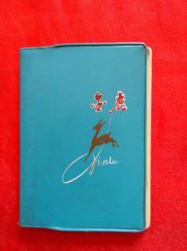 70年代老塑料日记本    金鹿