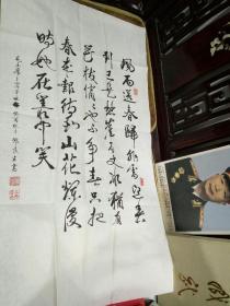 邓良生书法一幅:毛主席卜算子.咏梅。