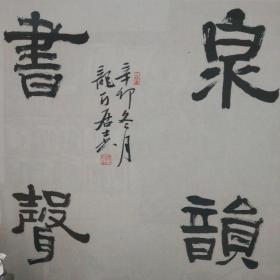 中国书协会员、平原县书协主席王立新作品《泉韵书声》