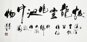 【保真】知名书法家道不远人(杨向道)作品:蛟龙岂非池中物