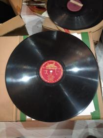 老唱片。《还乡行》二胡独奏。甘柏霖。《桂林山水》民族管弦乐。30cm大唱片。