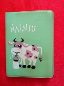 80年代老塑料日记本  NAINIU 100开80页