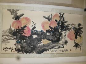吉林著名画家张德君(笔名老枫):福寿图一幅