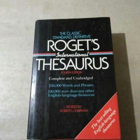 英文原版:roget`s thesaurus (精装) (首页内容自鉴)
