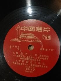 老唱片。《北京有个金太阳》。《在北京的金山上》。《想念毛主席》。《太阳就是毛泽东》。