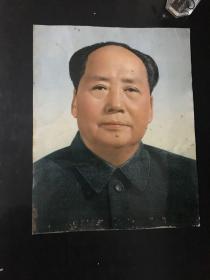 毛泽东主席铁皮半身像 34×27