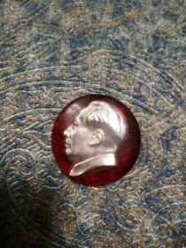 毛主席像章,文革时期六十年代,塑胶制
