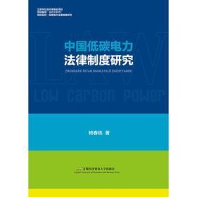中国低碳电力法律制度研究