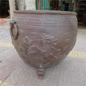 清代康熙十五年制麒麟图案水缸