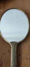 晚清民国皇宫贵族用的鎏金簪花镜子
