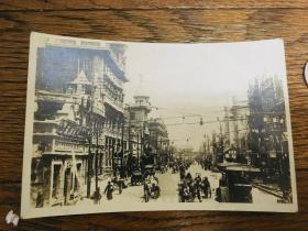 日本老照片 沈阳 街景 市景 吉顺丝房  罕见 稀缺