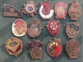 苏联勋章大全套13枚外国像章 二战时期 苏联卫国战争一级勋章套装