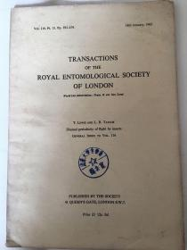 transactions of the royal entomological society of London(伦敦皇家昆虫学会论文集116、117两期)