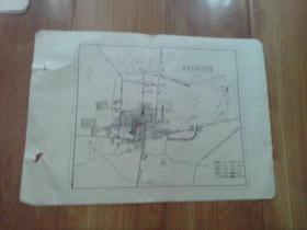 曲阜文献   清华大学著名教授朱祖成旧藏   80年代曲阜名城现状图  有折痕
