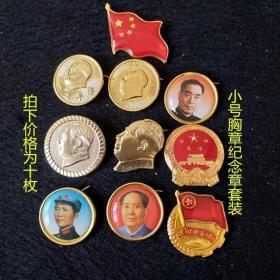 文革像章小号胸章纪念章10枚套装瞻仰毛主席纪念堂留念全新徽章