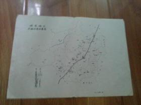 保定文献   清华大学著名教授朱祖成旧藏   80年代历史文化名城保定之保定地区文物分布示意图  有折痕