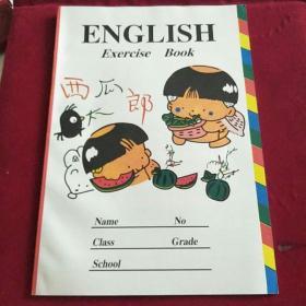 西瓜郎英语笔记本,全新未用