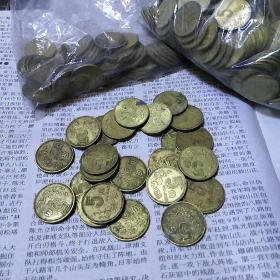 梅花五角铜币100枚