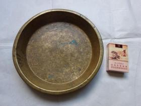 水草纹饰老铜盘