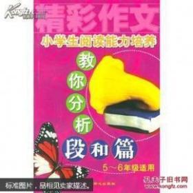 小学生阅读能力培养教你分析段和篇5-6年级适用 王琳达  北京日