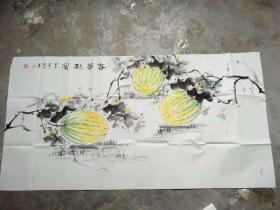 国家一级美术师书画国礼艺术家张利国画:春华秋实