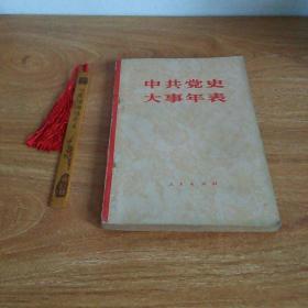 中共党史大事年表(1981年1版1印)