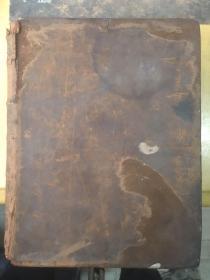 【铁牍精舍】【西文善本】 1859年牛皮封面硬精装《韦伯斯特大字典》,前有韦伯斯特肖像铜版画一幅,26.5x19.7cm。1828 年美国词典编纂家N.韦伯斯特自行出版《美国英语词典》二册,该书成为继英国约翰逊《英语词典》之后的经典辞书。韦氏死后,开印刷所的兄弟二人G.梅里厄姆和C.梅里厄姆买了韦家的版权,以梅里厄姆 · 韦伯斯特公司 的名义出版梅里厄姆韦氏词典。1847年修订第一版印出,合订成一