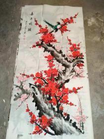 国家一级美术师书画国礼艺术家张利国画:喜上枝头