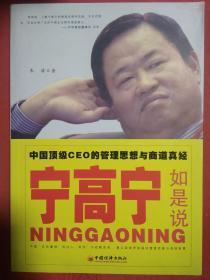 宁高宁如是说 中国顶级CEO的管理思想与商道真经