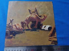 顾国建油画:丝路驼铃,骆驼