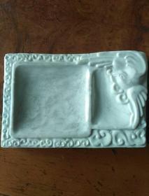 德化白瓷,老砚台手工制作