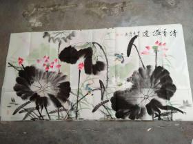 国家一级美术师书画国礼艺术家张利国画:清香溢遠