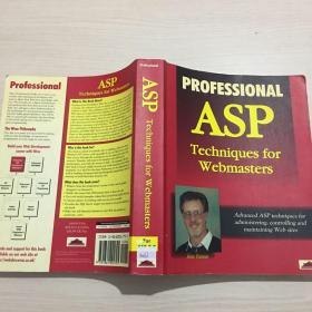 英文原版 professional asp technipues for webmasters