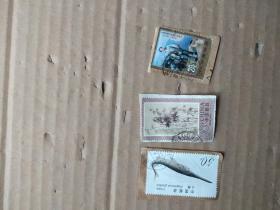 邮票  剪片3枚 合售