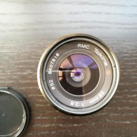 照相机 镜头 图丽 Tokina RMC 28mm F2.8 52mm 原装皮套