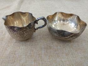 西洋 欧洲古董 餐具 镀银 碗 杯子 合售 也可以分开出售