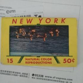 60年代左右new york 明信片8张有封套
