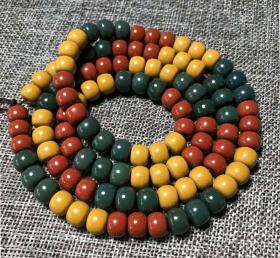 纯天然多彩玛瑙手串玛瑙手链,此纯天然红,黄,绿玛瑙光滑细腻,稀有难得绝世珍品,古朴神韵此玛瑙手链无优化,无高温原汁原味的神品收藏之珍品
