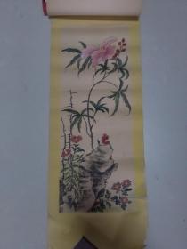 【花儿与山石 手绘:王金海.天津】